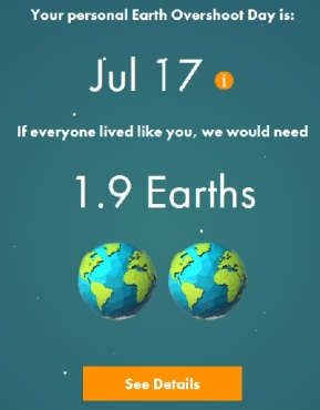 Personal Earth Overshoot Day 2017